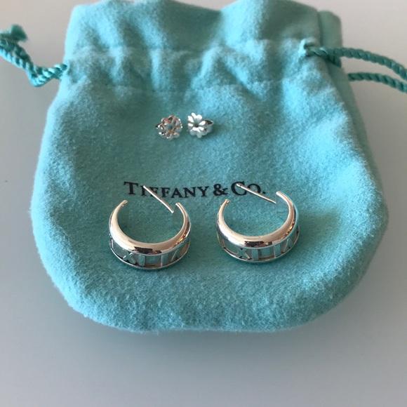 314d6f377 Tiffany & Co. Jewelry   Tiffany Co Atlas Hoop Earring   Poshmark